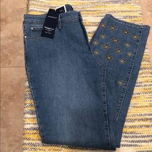 Charter Club- straight Leg Jeans with gold design